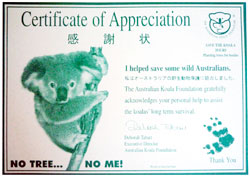 Certificate of Appreciation 感謝状